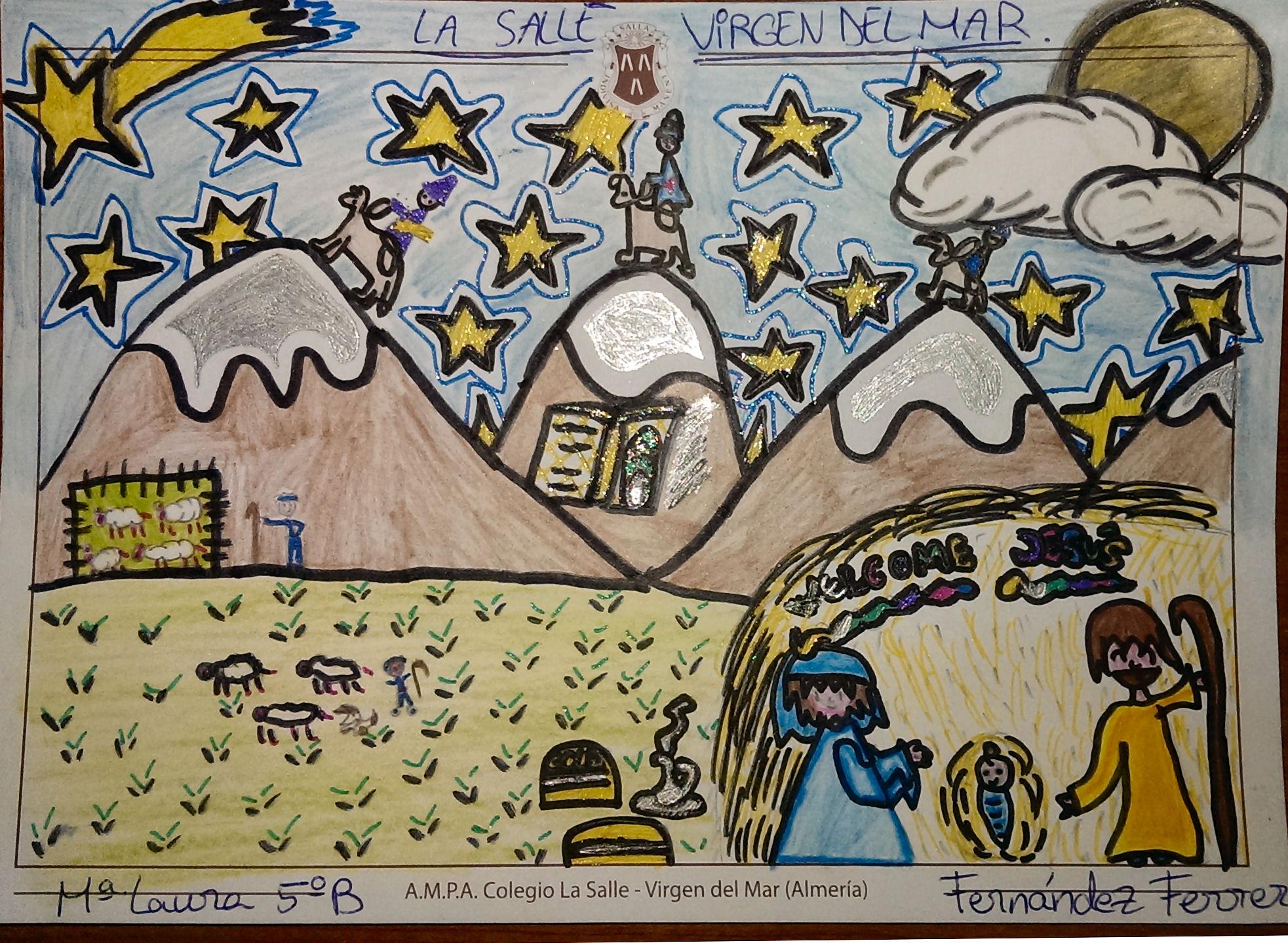 Diciembre 2013 ampa la salle almer a - Postal navidena infantil ...