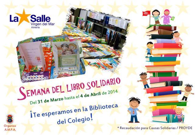 Mercadillo Solidario del Libro: 31Marzo - 4 Abril