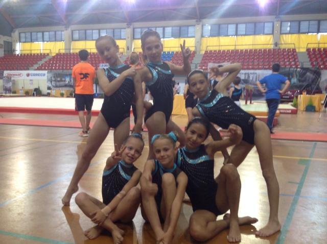 Exito del equipo de Gimnasia Rítmica del Club La Salle Virgen del Mar