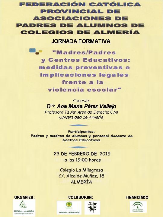 Jornadas 23-noviembre-2015 (Violencia Escolar)