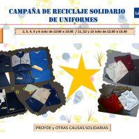 Comienza la VI Campaña de Reciclaje Solidario de Uniformes