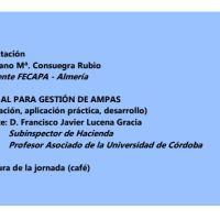 Jornadas de Formación. Gestión de AMPAS. 17 de Noviembre.